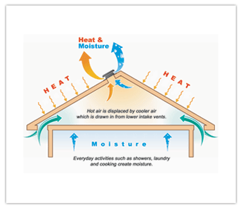 Suppress Heat Build Up and Battle Moisture - Solar Star Roof Ventilation